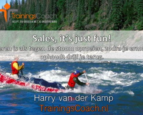Leren is als tegen de stroom oproeien zodra je ermee ophoudt drijf je terug - Trainingscoach.nl