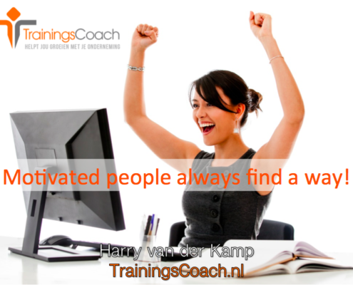 Trainingscoach - Motivated people always find a way